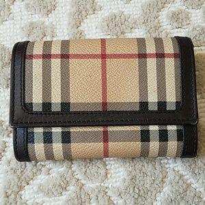 Burberry foldover Haymarket wallet